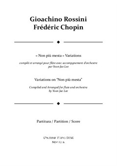 Rossini/Chopin (arr. Lee): Variations on 'Non piu mesta' for Flute and Orchestra, Full Score